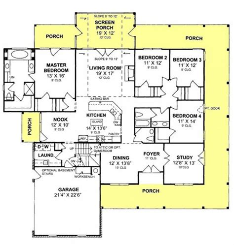 country floor plans with porches bedroom country country farmhouse and screened porches on