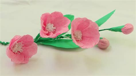 How To Make Flowers Using Crepe Paper - how to make origami paper flowers with using crepe paper