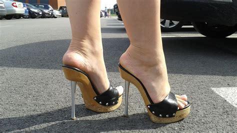 high heels mules shopping in high heels