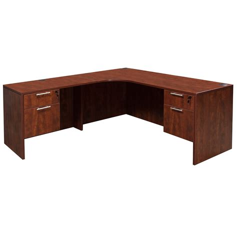 cherry l shaped desk everyday left return laminate corner desk l shape with
