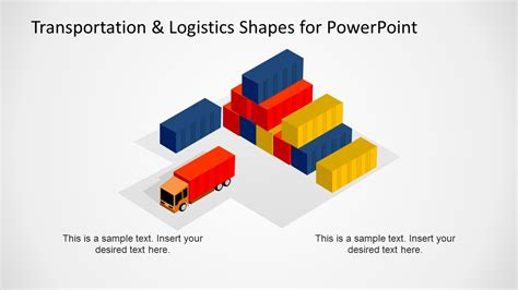 transportation amp logistics shapes for powerpoint slidemodel