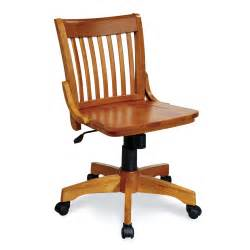 Wooden Desk Chairs With Wheels Design Ideas Osp Designs Deluxe Armless Wood Bankers Chair With Wood Seat Fruitwood At Hayneedle