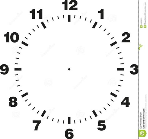 template clock vector best photos of round clock with hands template clock