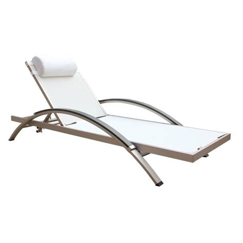 white outdoor lounge chair outdoor lounge chair in white fabric set of 2 76686
