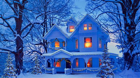 christmas houses in snow winter snow house wallpaper 11588 baltana