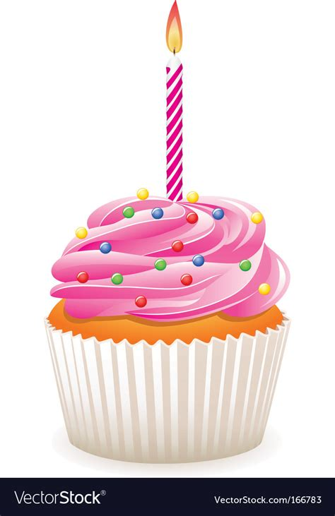 birthday cupcake images birthday cupcake royalty free vector image vectorstock