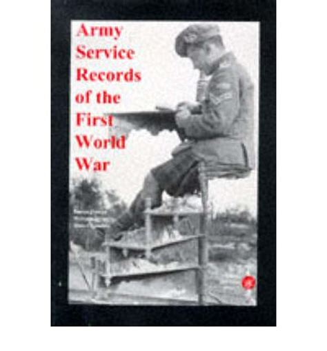 1st World War Records Army Service Records Of The World War Stuart Tamblin 9781873162316