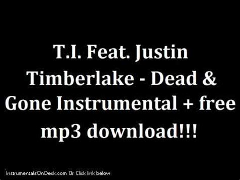 dead and gone mp t i feat justin timberlake dead gone instrumental