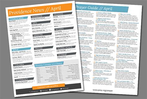 bulletin layout template weekly church bulletin layout on behance
