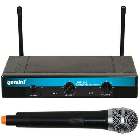 Microphone Werles Pewie Uhf 898 gemini dual handheld wireless microphone