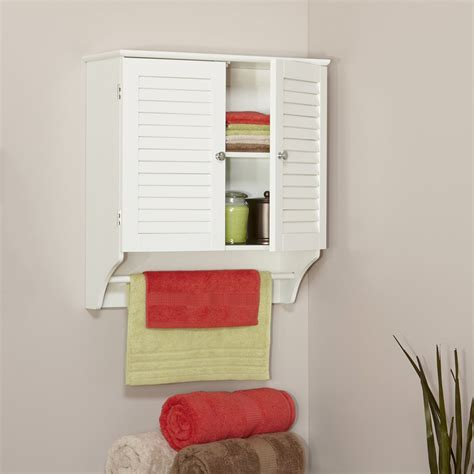 shutter door medicine cabinet white wooden mounted bathroom storage wall cabinet 2
