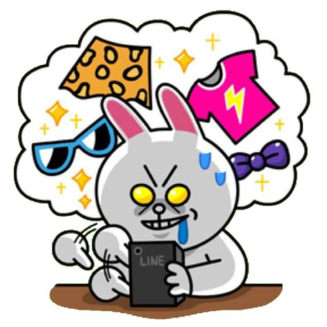 Kaos Line Emoticon Cony 1 Oceanseven cony addicted to shopping line stickers emoticons