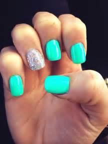teal color nails teal nails