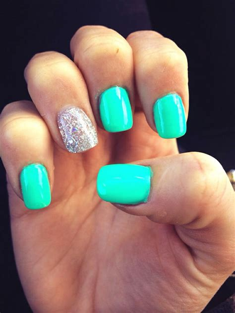 teal color nails teal nails