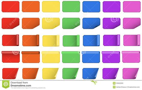 colored labels colored labels and tags set vector illustration