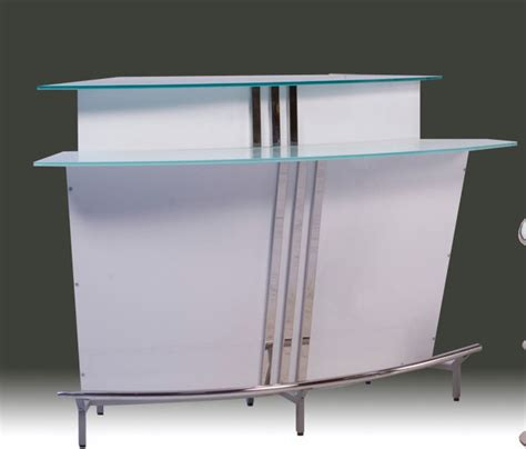 sofa 60 inch arched contemporary bar in high gloss