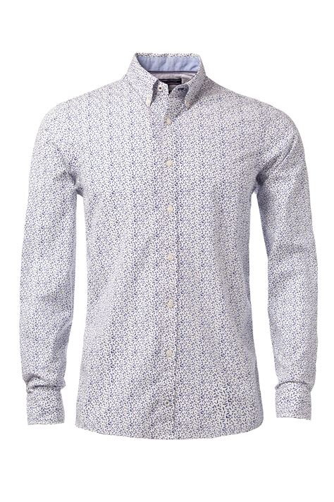 pattern long shirt tommy hilfiger lake pattern long sleeve shirt in white for