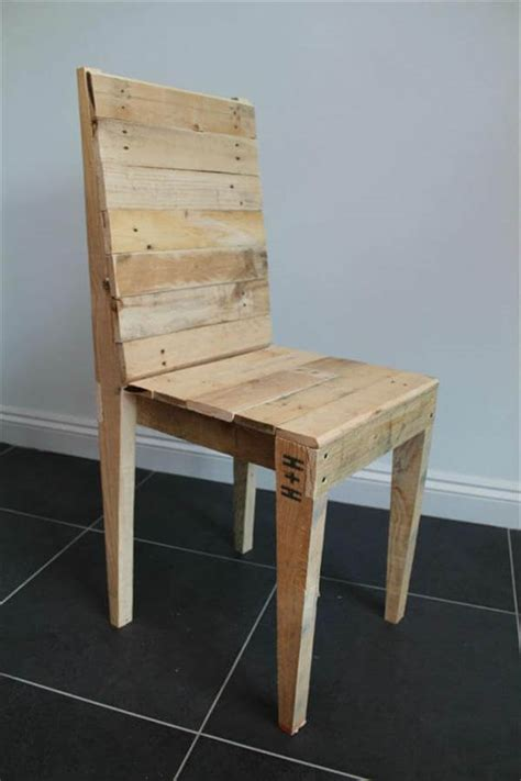 Diy Dining Chairs Reclaimed Pallet Dining Chair Pallet Furniture Diy