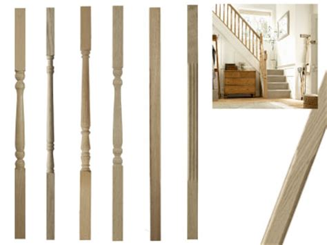 Wooden Banister Parts Special Offers On White Oak Stairparts Handrail Spindles