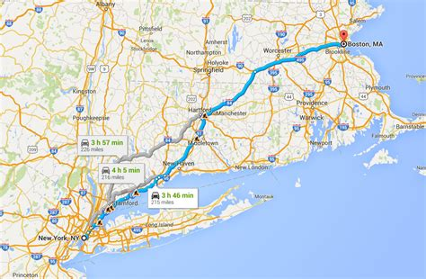 boston to new york the true cost of driving - Boston To New York