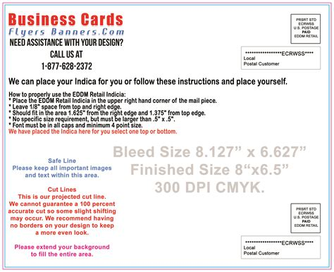 Free Business Card Template 8 5 X 11 by Eddm Postcard Templates Free Shipping And Low Prices