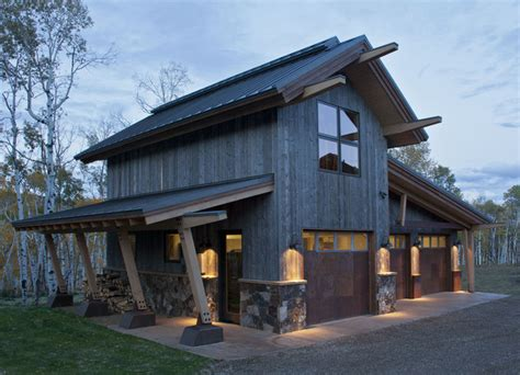 Nourth Routt Retreat   Rustic   Garage And Shed   denver