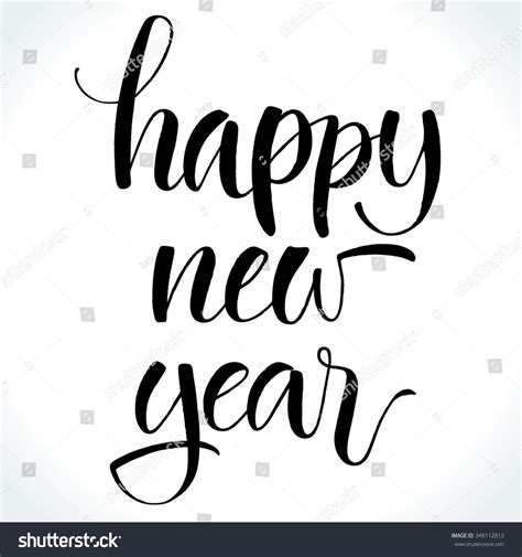 new year calligraphy vector free happy new year modern calligraphy handwritten stock vector