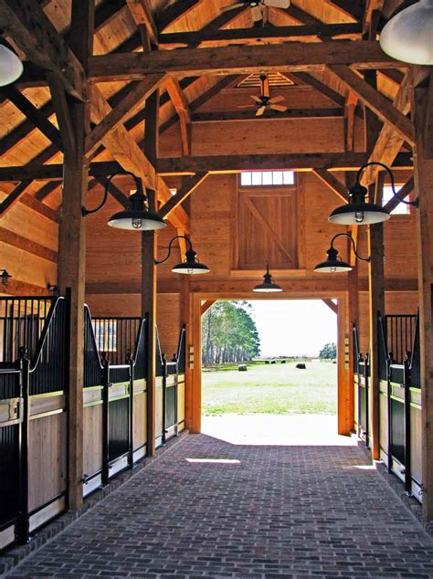 Western Ranch House Plans by Carolina Horse Barn Handcrafted Timber Stable