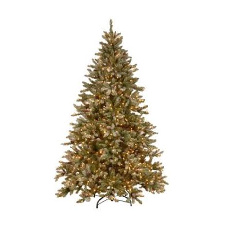martha stewart living 9 ft pre lit snowy fir hinged