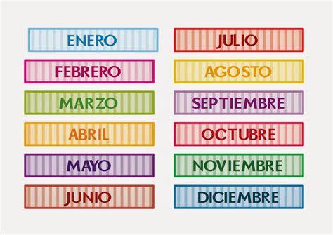 imagenes en ingles de los meses del año blog di spagnolo meses del a 241 o 1a