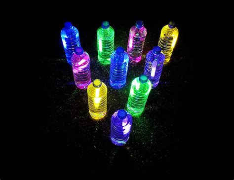 Glow in the dark bowling fun family crafts