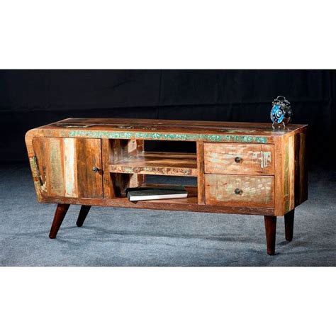 reclaimed wood tv cabinet reclaimed tv cabinet recycled from boats retro vintage
