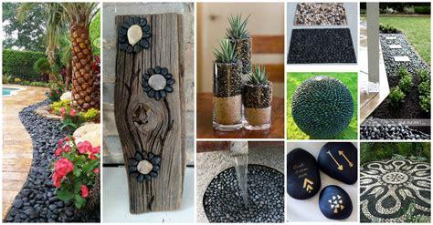 extraordinary black pebbles decor ideas