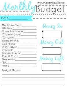 easy budget planner template 20 free printable monthly budget planners baby