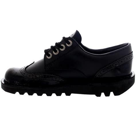 Sepatu Kickers Brogue Casual 2 kickers kick lo brogue lace up casual black smart shoes all sizes ebay