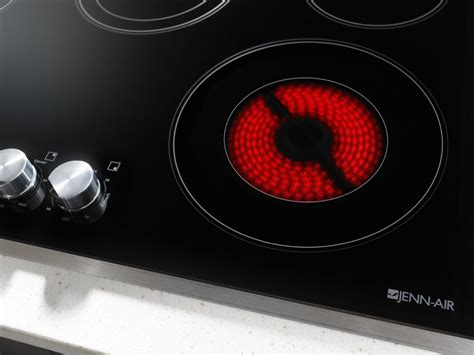 jec3536bs jenn air 36 quot electric cooktop w metal knob