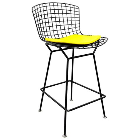 Bertoia Bar Stools by Knoll Harry Bertoia Black Bar Stool For Sale At 1stdibs