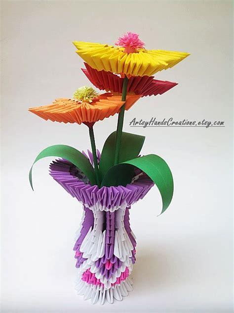 origami istruzioni fiori 3d origami flower vase 3d origami vase with door