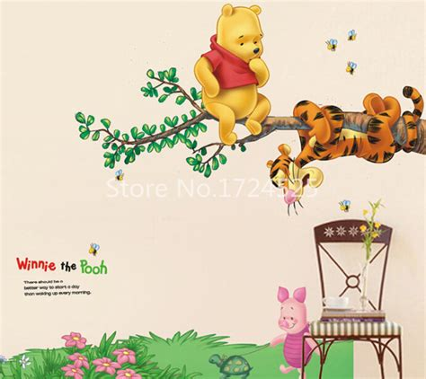 winnie pooh wall stickers buy wholesale winnie pooh wallpaper from china