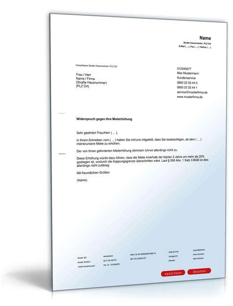 Musterbrief Widerspruch Gegen Rundfunkbeitrag widerspruch gegen unzul 228 ssige mieterh 246 hung muster zum