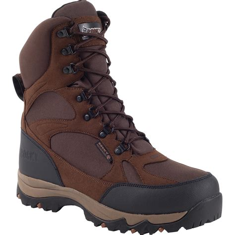 waterproof insulated boots for rocky hiker brown waterproof insulated boot ro021