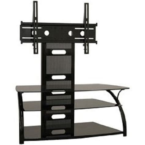 Tv Table Mount by Tech Craft Solution Series Curved Black Glass Tv Stand And