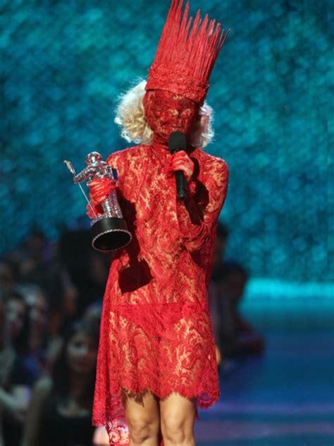 lady gaga red dress influentual artist lady gaga s crazy outfits