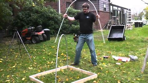 build a square foot garden wired how to wiki diy pvc green house cold frame youtube