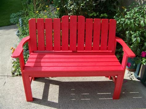 red outdoor bench a red bench for your country garden benches pinterest