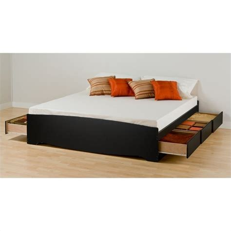Black King Platform Storage Bed 4 Piece Bedroom Set Bsh King Platform Bed Set