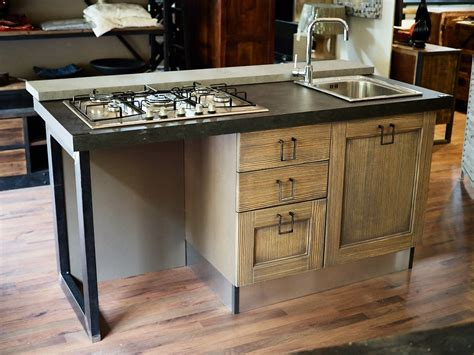 piano lavello cucina cucina isola vintage shabby grey con lavello e piano