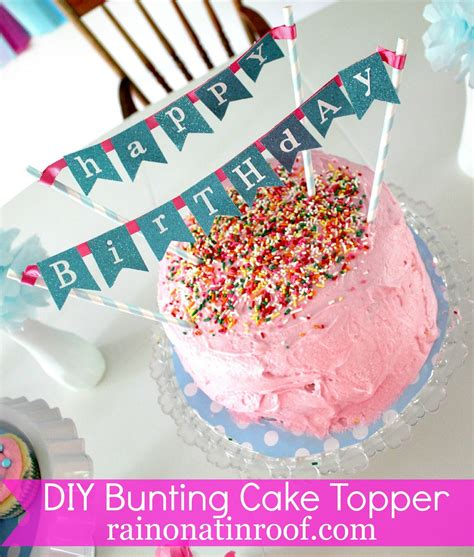 diy cake diy cake bunting topper