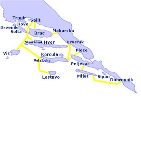 traghetti interni croazia traghetti croazia isole dell adriatico meridionale