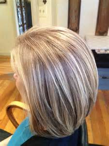images grey and blond hair blend doing lowlights to blend with grey dark brown hairs